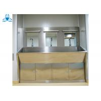 China Three Mirrors Hand Washing Bathroom Basin Cabinets With Three Positions Automatic Induction wholesale