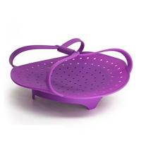 China 100% Food Grade  Silicone Vegetable Steamer Cooking Steamer With Locking Handles Cooking Tool on sale
