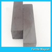 China Customized Long Large Bar Ferrite Ceramic Magnet For Industrial Use wholesale