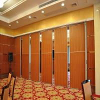 China Movable Folding sliding Partition Door On Aluminum Track Max 6000mm Height wholesale