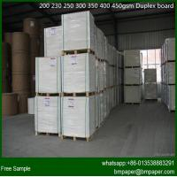 New Product One Side White Coated Grey Back Duplex Card Board