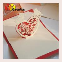 China CMYK 3D Pop Up Card birthday greeting card heart with bird OEM wholesale