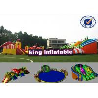 China 9*8m Colorful Shark Inflatable Water Slide With Pool Commercial Water Park For Kids wholesale