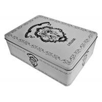 China French Biscuit  Cupcake Donuts Rectangular Tin box wholesale