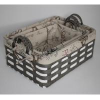 China hand made paper rope storage  baskets with handle wholesale