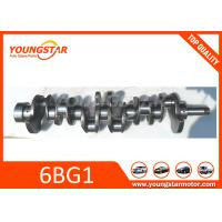 China Steel Alloy Engine Crankshaft For ISUZU 6BG1 HRC 40 1-12310-448-0 , 1123104480 wholesale