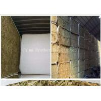 White Color Hay Bale Sleeves Waterproof Tubular Woven Fabric UV Treated