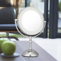 China Magnifying 3X Cosmetic Double Sided Lighted Makeup Mirror White / Warm Whita Can Change wholesale