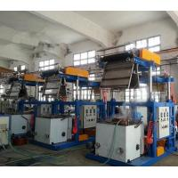 China PVC Film 0.025 - 0.07mm Thickness Blown Film Extrusion Machine With Pillar Under Electric Lift wholesale