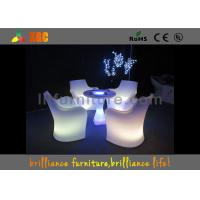 30 * 30 * 110 cm LED Lighting Furniture , LED bar table with glass top Manufactures
