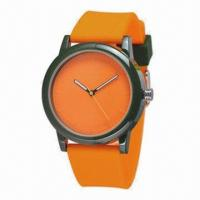 China customized wristwatches with plastic case and silicone band, new 2013 customized style wholesale