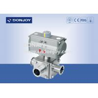 China Sanitary Ball Valve Aluminum pneumatic actuator three-way non-retention L type and full port wholesale