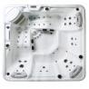 China 5 Person Capacity Hot Massage Tub , Hot Tub Spa Corner Drain Location PFDJJ 08 wholesale
