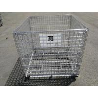 China Foldable Metal Mesh Storage Cages / Mobile Storage Cage Q235 Material wholesale