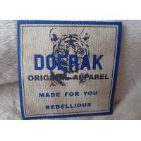 Quality High Density 3D Organic Canvas Screen Printing Label For Children'S Garments for sale