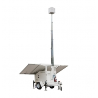 China 22.9ft Mobile Solar Trailer With Solar Panels Telescopic Mast Batteries on sale