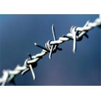 China Heavy Duty Barbed Wire Fence Galvanized Iron 4 Point 3