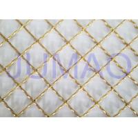 China Brass Plated Decorative Wire Mesh Cabinet Inserts For Entertainment Centers on sale