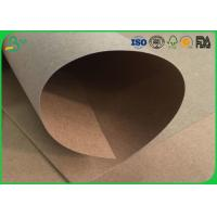 China Water Resistant / Waterproof Brown Kraft Paper Roll 200gsm 250gsm For Packaging Box wholesale