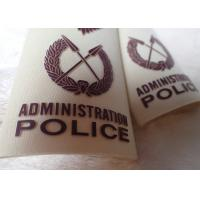 China High Density Screen Printed Clothing Labels Police Shoulder Patches on sale