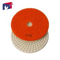 China Economic Loop Tape 3 Inch Polishing Pads High Gloss With Spiral Shape wholesale