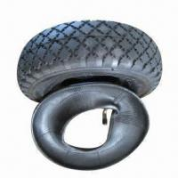 China Pneumatic Rubber Wheel for Wheelbarrow, with Plastic/Steel Rim, Measures 260 x 85mm wholesale