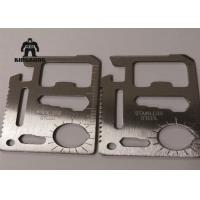China Metal    Multi Function  Stainless Steel Business Cards Outdoor   Camping Travelling Support wholesale