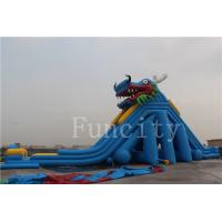China Dragon Theme Inflatable Water Slide For Adults / Kids 0.55mm PVC Tarpaulin wholesale