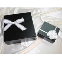China 6*6*2 Inch, 2mm Thickness Black Cardboard / Paper Packaging Box For Gift Packaging wholesale