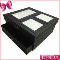 China Large Biggest Size White Thread Stitching Home Family Storage Collective Leather Gift Box on sale