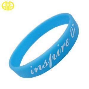 China Custom Bulk Silicone Wristbands / Silicone Bracelets Screen printing on sale