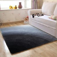 4D Polyester Shaggy Carpet in Gradient Color Best for Living Room Manufactures