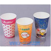 China Dixie cold drink cups,polycoated paper,12 oz,sage wholesale
