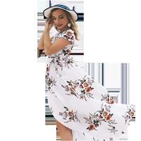 China Holiday Beach Women'S Short Sleeve Casual Dresses 100% Polyester wholesale