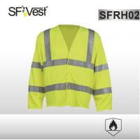 China Long sleeve safety vest Flame resistant clothing FR HI VIS with 5cm reflective tape EN ISO 20471 ISO 11612 wholesale