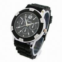 China Men's Sports Watch with Silicone Strap and Alloy Case, Fashionable Style on 2013 wholesale
