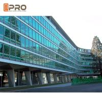 China Facade Reflective Glass Invisible Aluminium Curtain Wall For Building Exterior on sale
