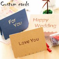 China Decorative Paper Greeting Cards CMYK Color With 4C Offset Printing wholesale