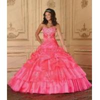 China Strapless Pink Quinceanera Dresses wholesale