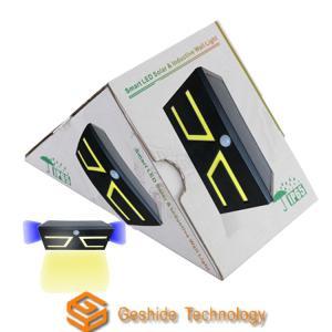 China Black Solar Panel Motion Lights , Solar Porch Lights With Motion Sensor wholesale