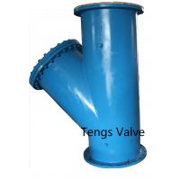 China Fabricted Steel Flanged Ends Y Strainer,  Carbon Steel A234 WPB, API and DIN Standard Welded Y Type Strainer wholesale