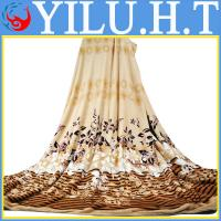 China cheap soft and warm polyester hotel flannel blankets wholesale
