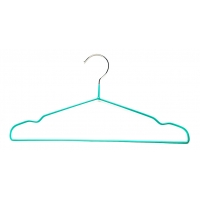 China Strong And Durable Notched Shoulders Compact Chrome Wire Hangers wholesale