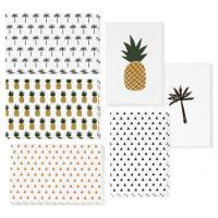 China 4x6 Inch Holiday Greeting Cards Pineapple / Palm Tree / Triangle Pattern Available wholesale