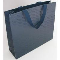 China Black Color Printed Paper Gift Bags With Flat Rope For Shopping / Advertising wholesale