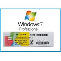 China Microsoft Windows 7 Product Key Codes Genuine OEM License Activation Online wholesale