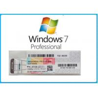 China Microsoft Windows 7 Product Key Code Win7 Professional Genuine OEM License Activation Online wholesale