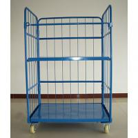 China Storage Wire Mesh Cargo Folding Container Warehouse Steel Cage Bin 500kg wholesale