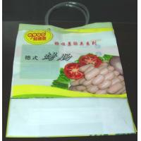 China Colorful Plastic Shopping Bag Loop Handle Bags For Sausage ,  Vegetables wholesale
