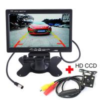 China Durable 7 Inch Rearview Mirror LCD Monitor , Backup Camera Monitor 300 / 1 Contrast wholesale